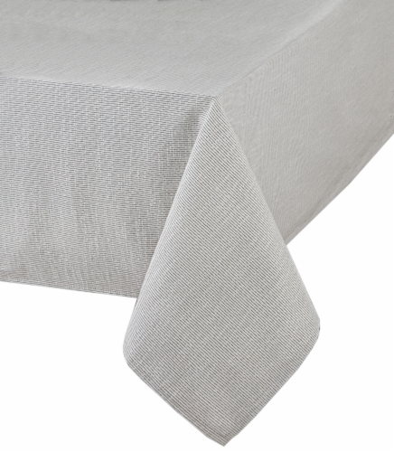 Bardwil Taylor Stripe Tablecloth - Blue Pinstripe Perspective: front
