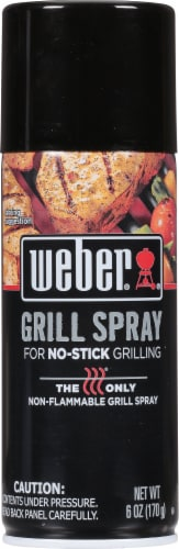 Weber No-Stick Grill Spray Perspective: front