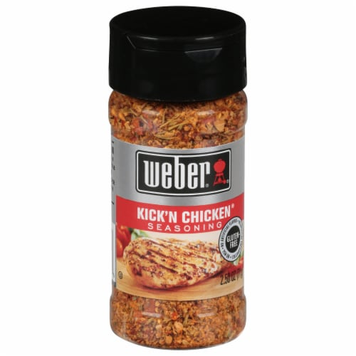 Weber Kick'n Chicken Seasoning Shaker Perspective: front