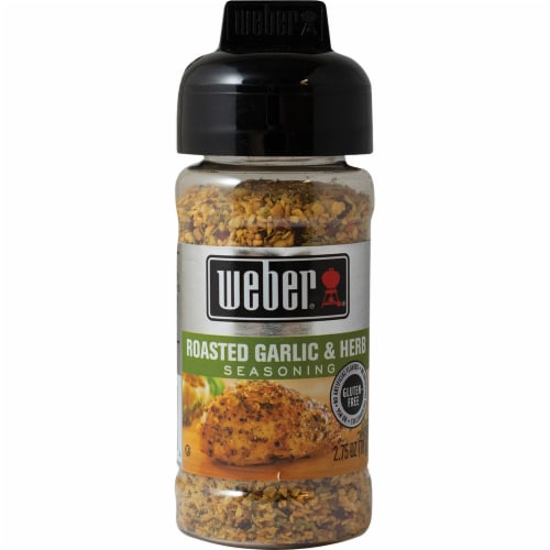 Weber Roasted Garlic & Herb Seasoning Shaker Perspective: front