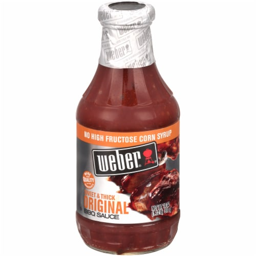 Weber Sweet & Thick Original BBQ Sauce Perspective: front
