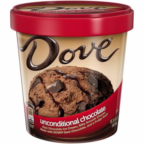 Dove Chocolate Unconditional Chocolate Ice Cream Perspective: front