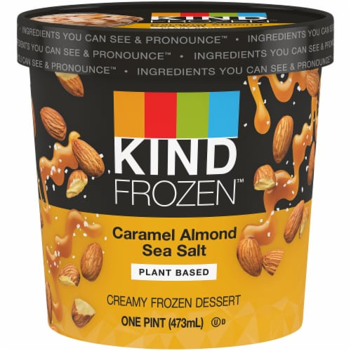 KIND Caramel Almond Sea Salt Plant-Based Ice Cream Perspective: front