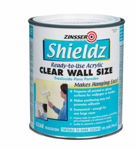 Zinsser  Shieldz Clear Wall Size  Clear  Primer  1 qt. - Case Of: 1; Perspective: front
