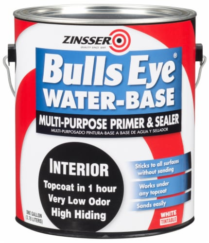 Zinsser Bulls Eye Water-Base Multi-Purpose Primer & Sealer - White Perspective: front