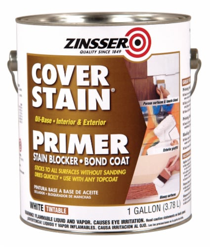 Zinsser Cover Stain Oil-Base Primer - White Perspective: front