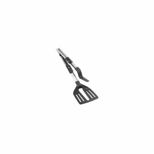 Household Essentials 03089 2 In 1 Spatula Tongs Stainless Steel Perspective: front