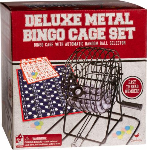 Cardinal Games Deluxe Metal Bingo Cage Set Perspective: front