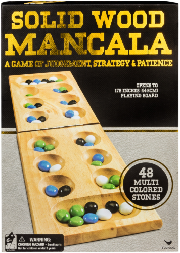 Cardinal Games Solid Wood Mancala Perspective: front