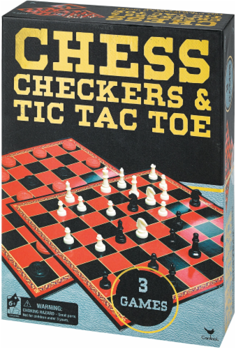 Cardinal Games Chess Checkers and Tic Tac Toe Perspective: front