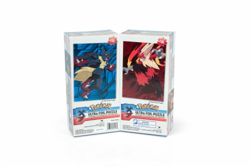 Pokemon XY VS Series Ultra Foil 100 Piece Jigsaw Puzzle Set   Includes 2 Puzzles Perspective: front