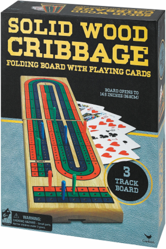 Cardinal Games Solid Wood Cribbage Perspective: front