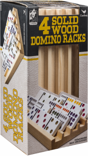 Cardinal Games Wood Domino Racks Perspective: front
