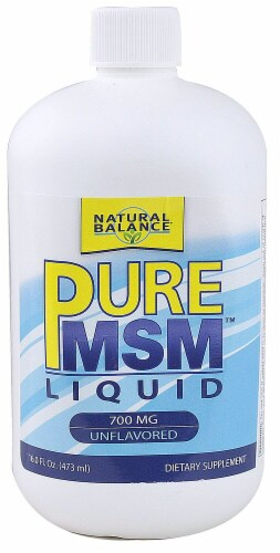 Natural Balance  Pure MSM Liquid   Unflavored Perspective: front
