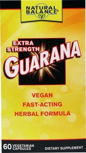 Natural Balance Extra Strength Guarana Vegetarian Capsules Perspective: front