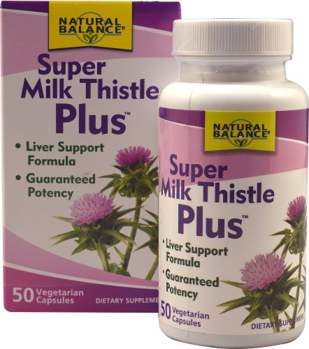 Natural Balance Super Milk Thistle Plus Vegetarian Capsules Perspective: front