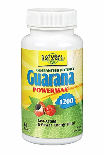 Natural Balance Guarana Powermax Tablets 1200mg Perspective: front