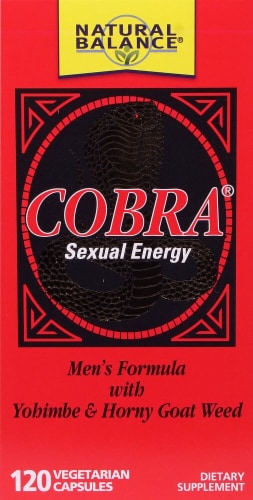Natural Balance Cobra Sexual Energy Vegetarian Capsules Perspective: front