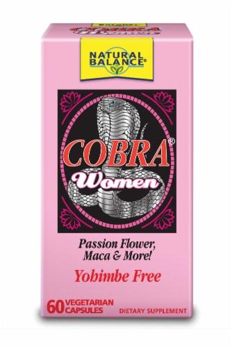 Natural Balance Cobra Women Dietary Supplement Vegetarian Capsules Perspective: front