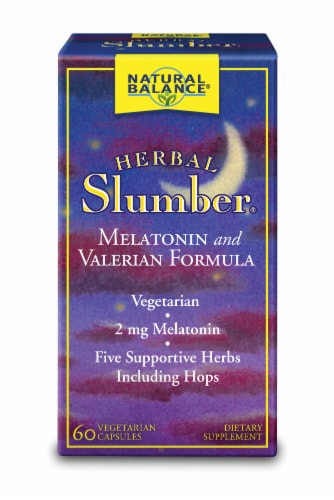 Natural Balance Herbal Slumber Vegetarian Capsules Perspective: front