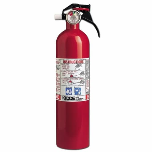 Kidde Safety 46141MTL Dry Chemical Hand Portable Fire Extinguisher Perspective: front