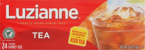 Luzianne Tea Bags Family Size Perspective: front