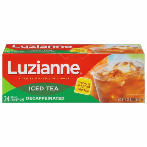 Luzianne Decaf Iced Tea Bags Perspective: front