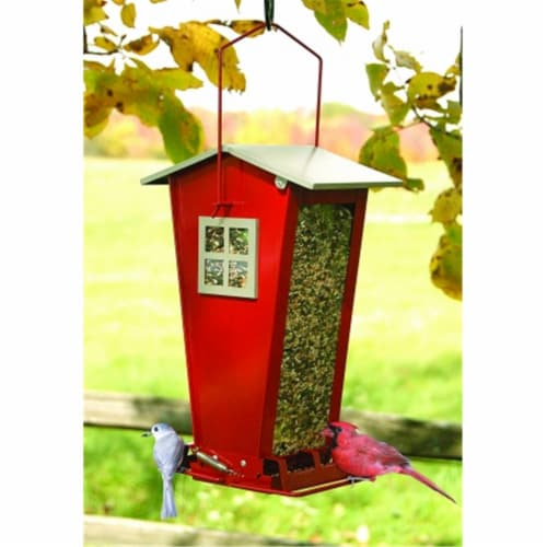 Audubon-Woodlink Snack Shack Squirrel Resistant Feeder Red Perspective: front