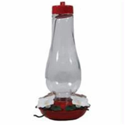 Audubon-Woodlink Hurrican Glass Hummingbird Feeder- Red-clear 24 Ounce Perspective: front