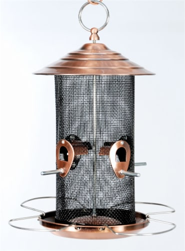 Audubon Mixed Seed Bird Feeder - Brushed Copper Perspective: front