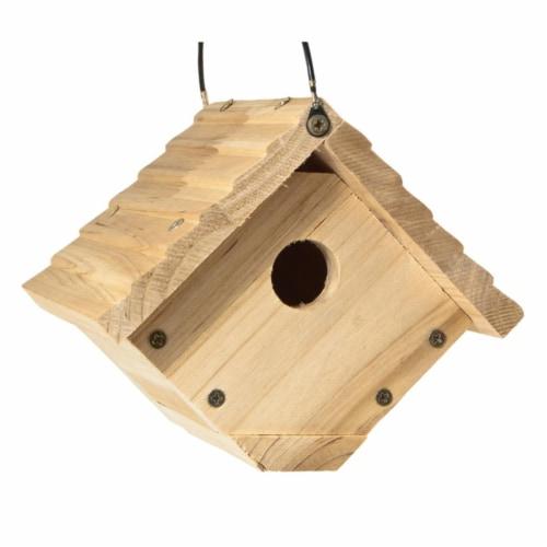 Audubon 6.25 x 6.8 x 7.13 in. Red Cedar Bird House Perspective: front