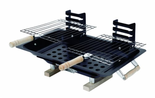 Marsh Allen Hibachi Charcoal Grill Black - Case Of: 1; Perspective: front