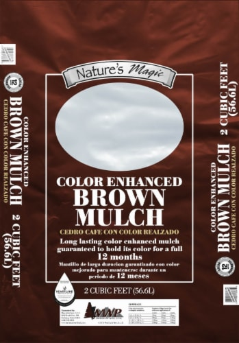 Nature's Magic Color Enhanced Mulch - Brown Perspective: front