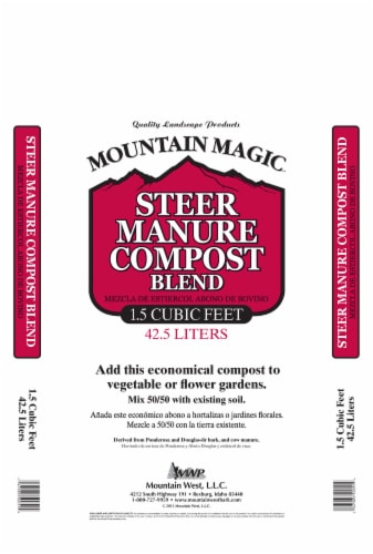 Mountain West Products Mountain Magic Steer Manure Compost Blend - Brown Perspective: front