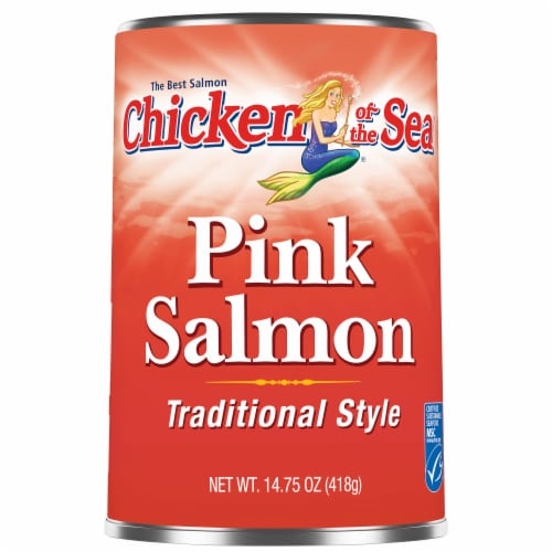 Chicken of the Sea Canned Traditional Style Pink Salmon Perspective: front