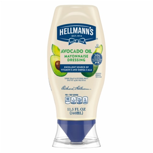 Hellmann's Avocado Oil with a Hint of Lime Mayonnaise Dressing Perspective: front