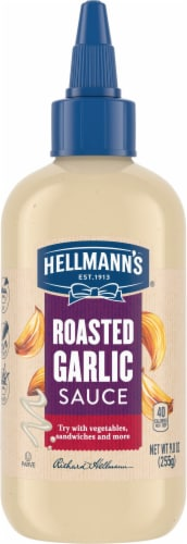 Hellmann's Roasted Garlic Sauce Perspective: front