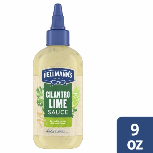 Hellmann's Dairy-Free Cilantro Lime Gluten-Free Sauce Dip & Dressing Perspective: front