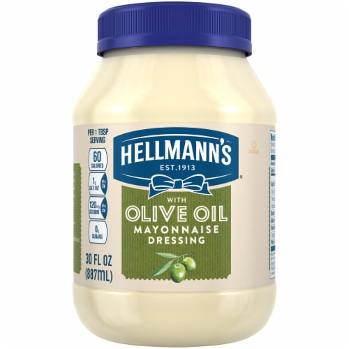 Hellmann's Olive Oil Mayonnaise Dressing Perspective: front
