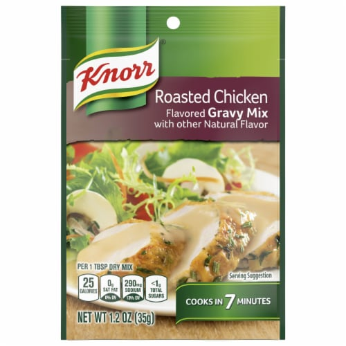 Knorr Roasted Chicken Flavored Gravy Mix Perspective: front