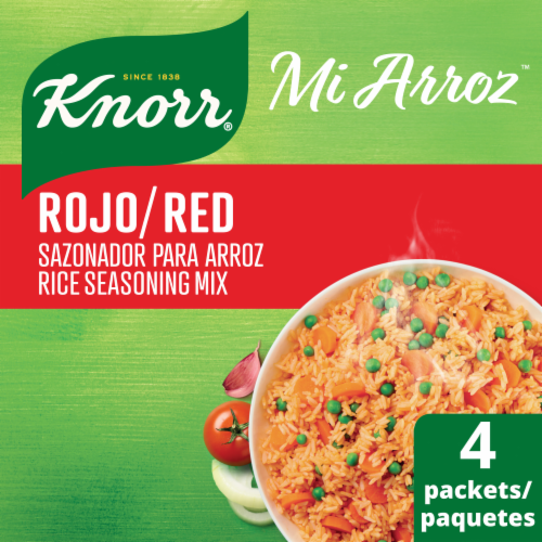 Knorr Mi Arroz Red Rice Seasoning Mix 4 Count Perspective: front