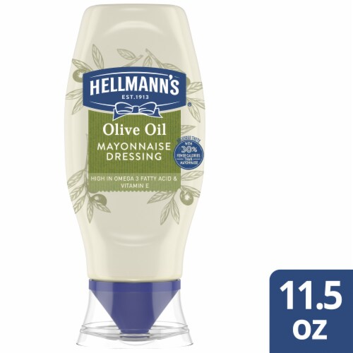 Hellmann's Mayonnaise with Olive Oil Sqeeze Bottle Perspective: front