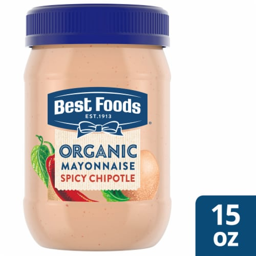 Best Foods Organic Spicy Chipotle Mayonnaise Perspective: front