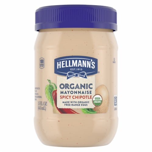 Hellmann's Organic Spicy Chipotle Mayonnaise Perspective: front