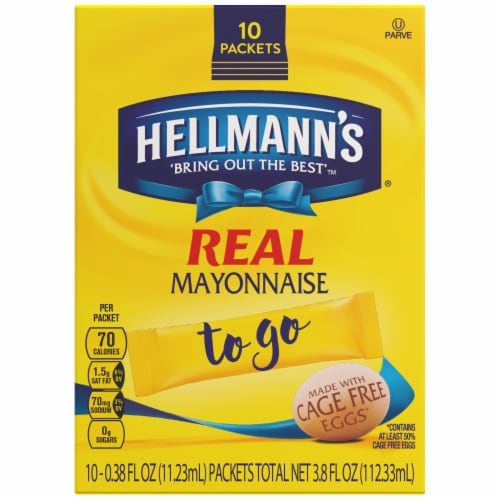 Hellmanns Real Mayonnaise To Go Packets Perspective: front