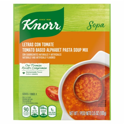 Knorr Tomato Based Alphabet Pasta Soup Mix Perspective: front