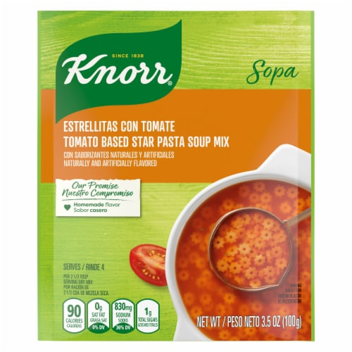 Knorr Tomato Based Star Pasta Soup Mix Perspective: front