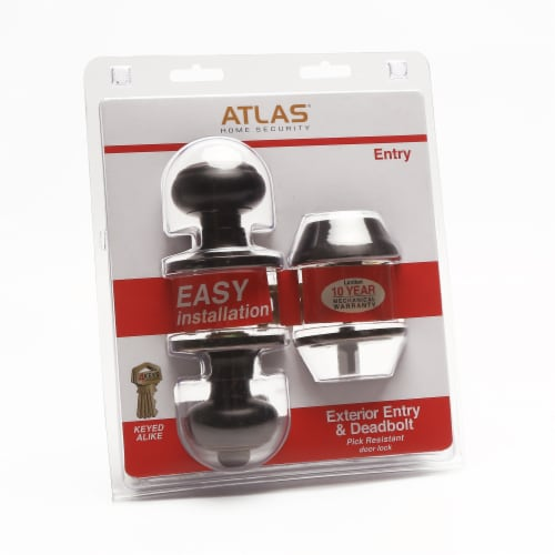 Atlas Exterior Entry and Deadbolt Combo Kit - Oil Rubbed Bronze Perspective: front