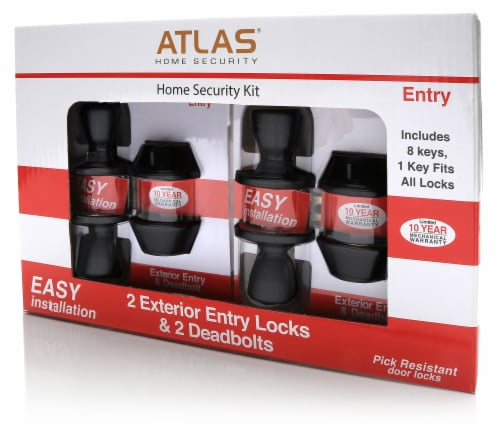 Atlas Home Security Kit - Oil Rubbed Bronze Perspective: front