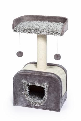 Prevue Shag Hideaway Plush Cat Furniture Perspective: front